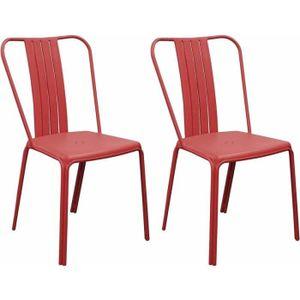 Chaise de jardin Azuro rouge (lot de 2)