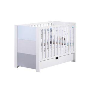 lit bebe barreaux blanc 60x120 achat vente lit bebe barreaux blanc 60x120 pas cher cdiscount. Black Bedroom Furniture Sets. Home Design Ideas