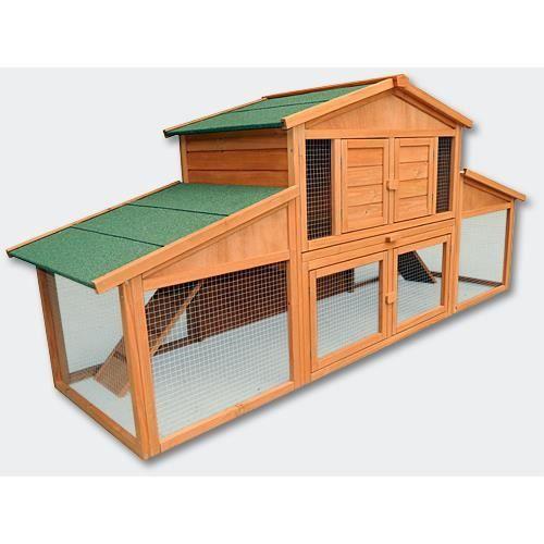 poulailler clapier xxl lapini re en bois achat vente poulailler poulailler clapier xxl. Black Bedroom Furniture Sets. Home Design Ideas