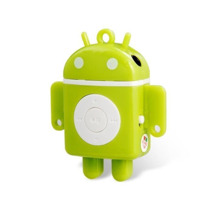android robot en forme de mini lecteur mp3 avec lecteur de. Black Bedroom Furniture Sets. Home Design Ideas