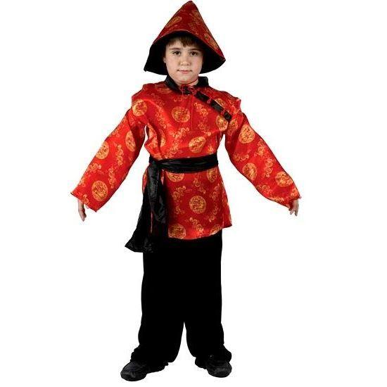 Déguisement enfant Chinois rouge 7 9 ans Achat / Vente déguisement