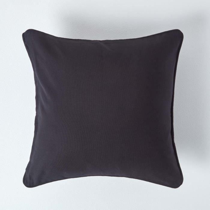 Coussin d houssable noir 45 x 45 cm achat vente housse - Housse de coussin 45 x 45 ...