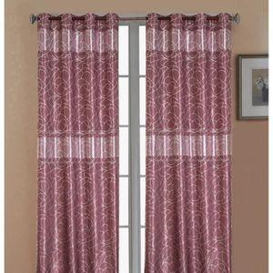 paire rideau violet achat vente paire rideau violet pas cher cdiscount. Black Bedroom Furniture Sets. Home Design Ideas