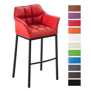 Repose pied cuir rouge achat vente repose pied cuir rouge pas cher cdis - Tabouret de bar avec 4 pieds ...