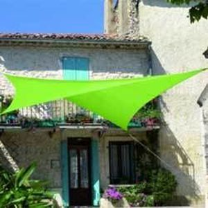 Voile d ombrage carree 5.0 x 5.0 m