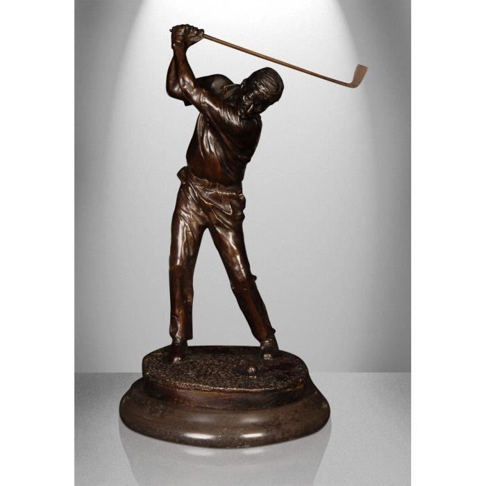 Golfeur Sculpture classique en bronze patiné avec base en ...