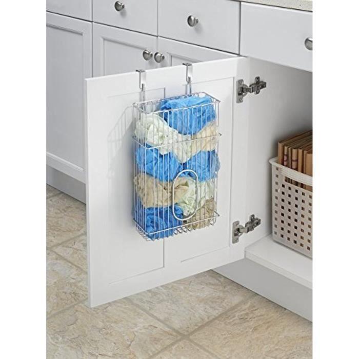 Support mdesign pourranger les sacs plastiques et sac - Astuce pour ranger les sacs plastiques ...