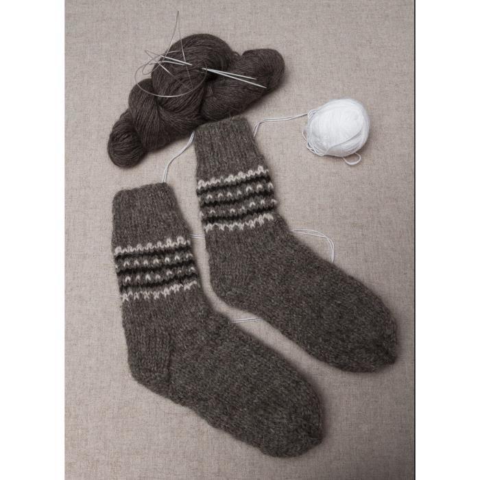 chaussettes en laine pour homme faites main gris achat vente chaussettes 2009918663671. Black Bedroom Furniture Sets. Home Design Ideas