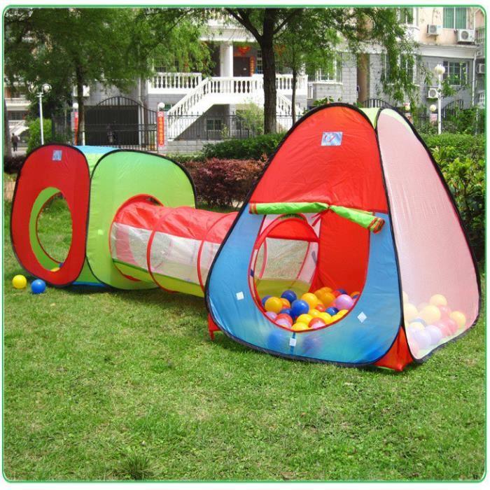 2 X Tente De Jeu Enfant Pop Up Ocean Avec Tunnel Et 200 Balles Pour De Piscine Balles Grande