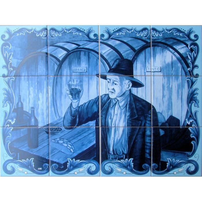 Fresque murale faience maill e 60x45cm 12 carreaux for Fresque murale carrelage