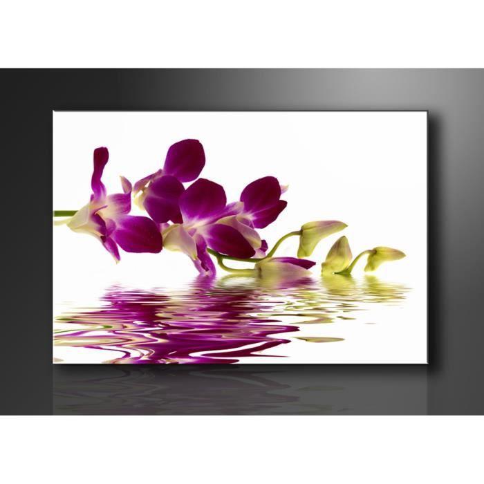 tableau imprim 120x80 cm orchidee achat vente tableau toile toile bois cdiscount. Black Bedroom Furniture Sets. Home Design Ideas