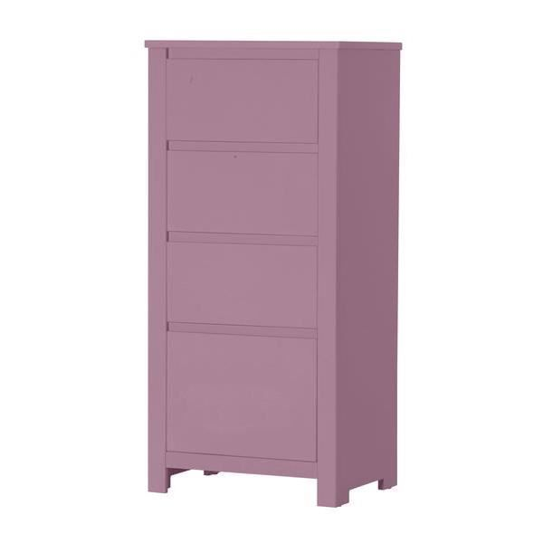 Chiffonnier 4 tiroirs floride violet pastel achat vente commode semai - Chiffonnier 4 tiroirs ...