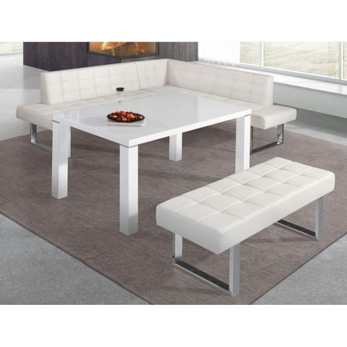 Table de cuisine klark blanc achat vente table manger table de cuisin - Table cuisine cdiscount ...