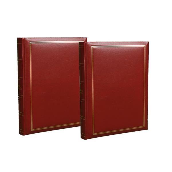 lot de 2 albums photo pochettes super pour 300 photos 10x15 bordeaux achat vente album. Black Bedroom Furniture Sets. Home Design Ideas