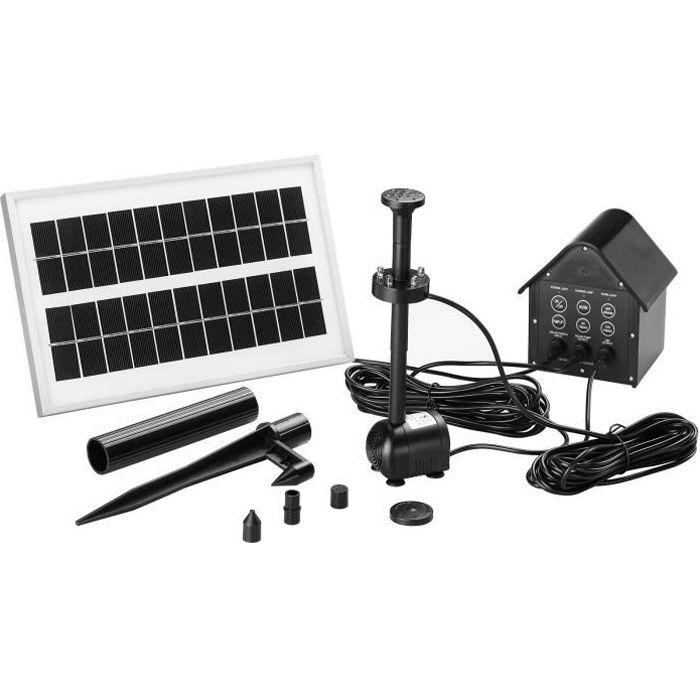 pompe solaire pour tang fontaine avec batterie achat vente fontaine de jardin pompe. Black Bedroom Furniture Sets. Home Design Ideas