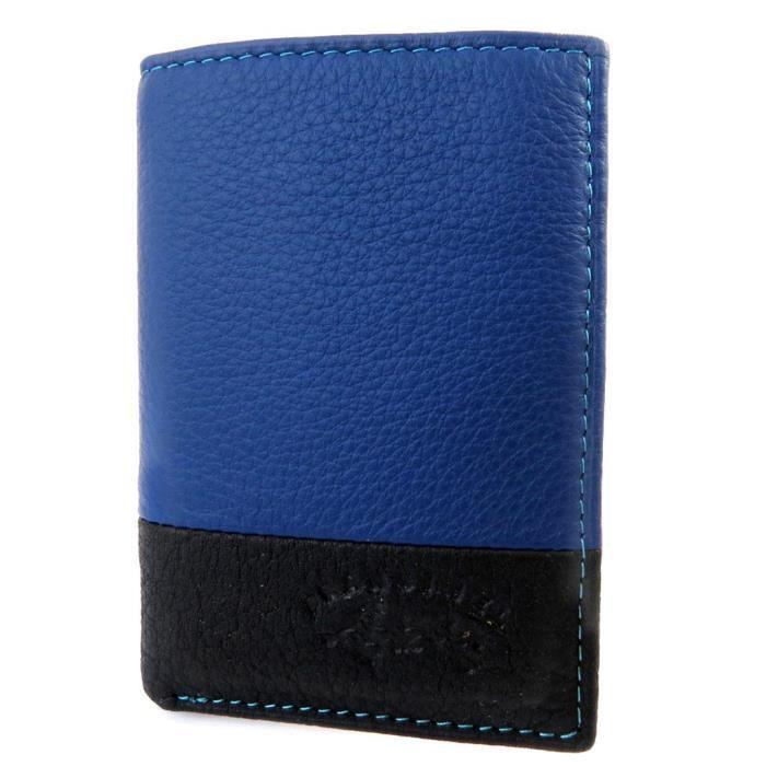 Porte cartes troubadour bleu multicolore achat vente porte ca - La porte bleu belgique ...
