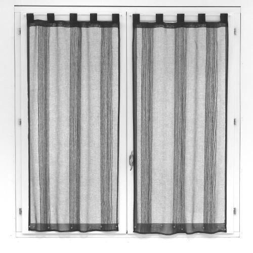 paire voilages trame 60x120cm gris achat vente rideau. Black Bedroom Furniture Sets. Home Design Ideas