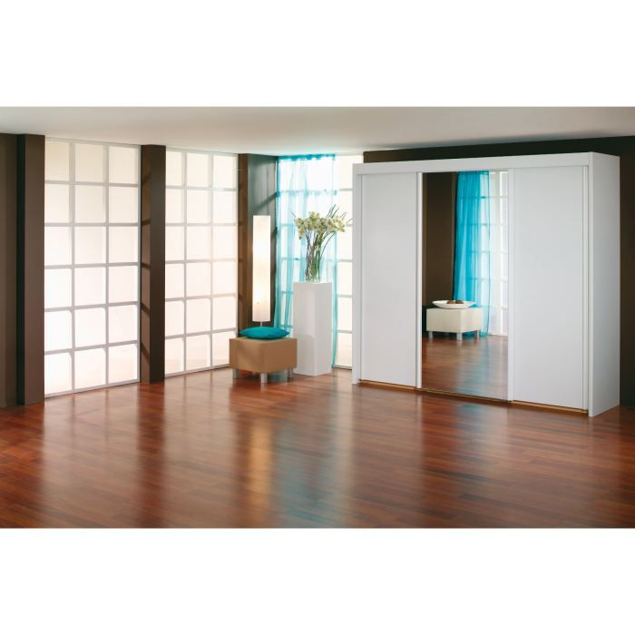 armoire adulte bianca iii achat vente armoire de chambre armoire adulte bianca iii cdiscount. Black Bedroom Furniture Sets. Home Design Ideas