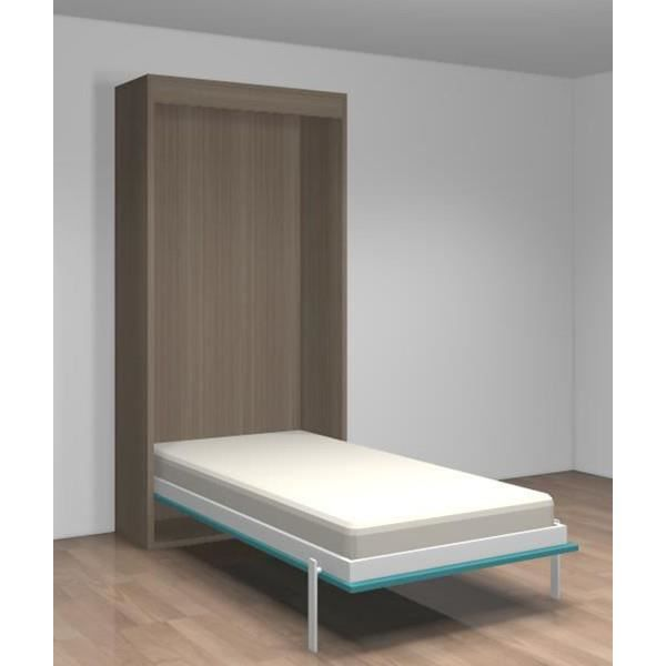 Lit relevable vertical teo 90x190 gris et bleu achat vente lit escamotabl - Lit relevable griffon ...