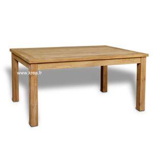 TABLE A MANGER SEULE Table à diner en teck massif  rectangulaire 160…