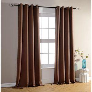 rideau marron achat vente rideau marron pas cher. Black Bedroom Furniture Sets. Home Design Ideas