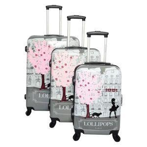 SET DE VALISES Lot de 3 valises Lollipops grise
