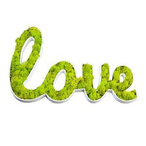 PLAQUE DE PORTE Picto Végétal Love