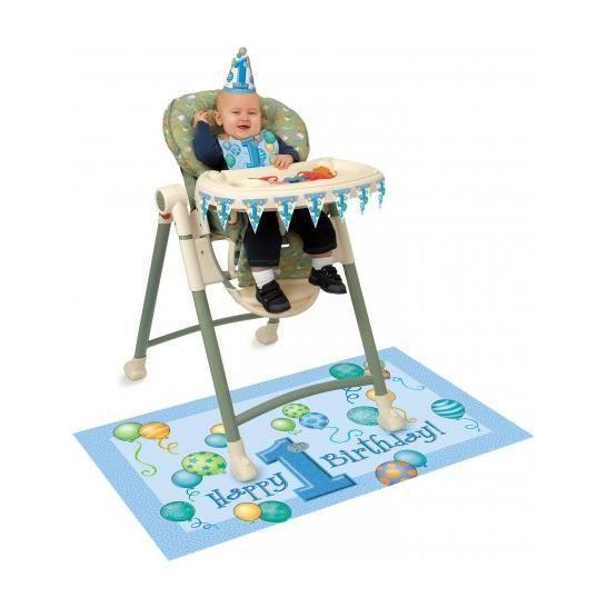 d corations pour chaise haute anniversaire 1 an gar on. Black Bedroom Furniture Sets. Home Design Ideas