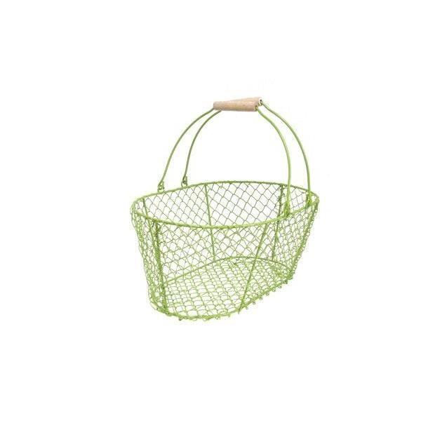 panier en m tal vert achat vente coffret cadeau picerie panier en m tal vert cadeaux de. Black Bedroom Furniture Sets. Home Design Ideas