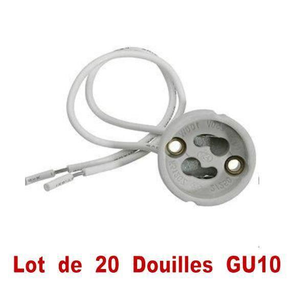 douille gu10 eco lot de 20 achat vente douille gu10 eco lot de 20 porcelaine soldes d t. Black Bedroom Furniture Sets. Home Design Ideas