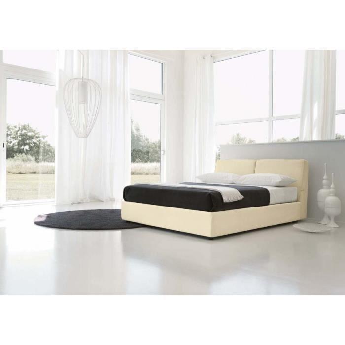 Lit coffre alto 160x200 avec t te de lit rev te achat vente ensemble lit - Lit coffre 160x200 pas cher ...