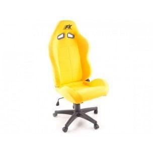 Chaise de bureau pro sport jaune achat vente chaise de bureau jaune cdiscount for Chaise de cuisine jaune
