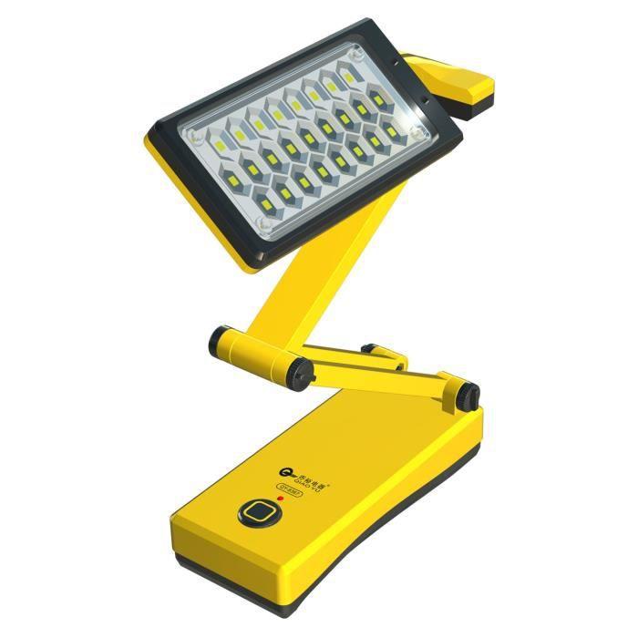 pliable two mode 25 led lampe de bureau rechargeable avec indicateur de charge jaune achat. Black Bedroom Furniture Sets. Home Design Ideas