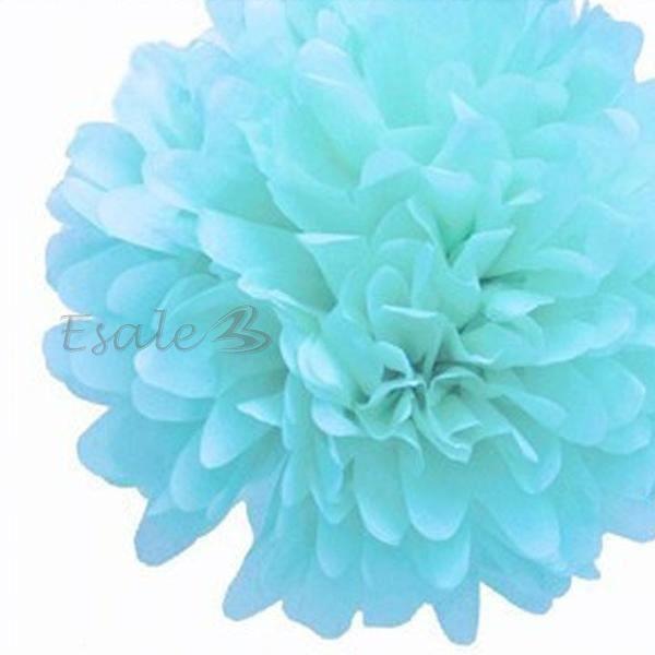 Bouquet de fleur artificielle papier bleu clair achat for Soldes fleurs artificielles