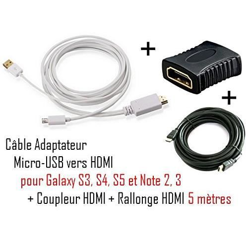 cabling cable adaptateur micro usb vers hdmi mhl pour. Black Bedroom Furniture Sets. Home Design Ideas