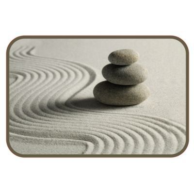 Tapis salle de bain zen beige achat vente tapis bain for Tapis de salle de bain zen