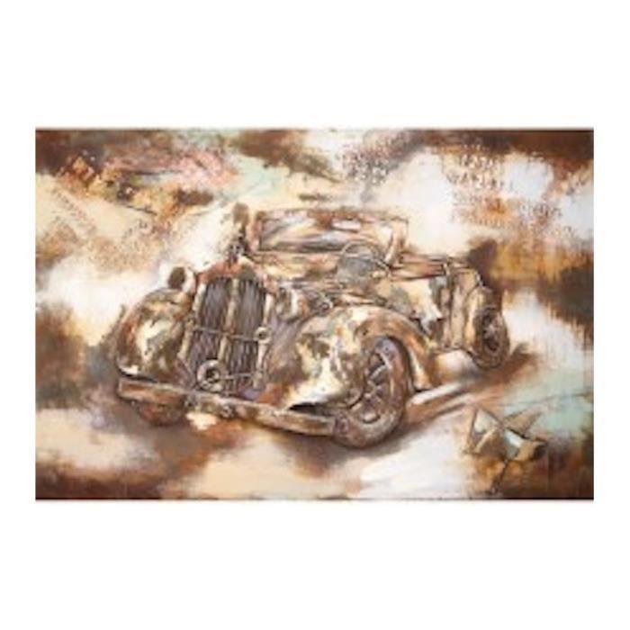 d tails du produit tableau peinture support m tal voiture de collection cette peinture. Black Bedroom Furniture Sets. Home Design Ideas
