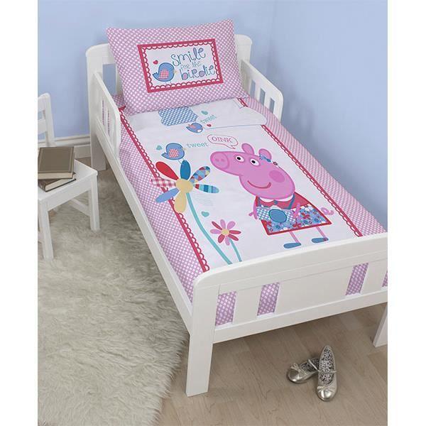 parure de lit junior peppa pig achat vente housse de. Black Bedroom Furniture Sets. Home Design Ideas
