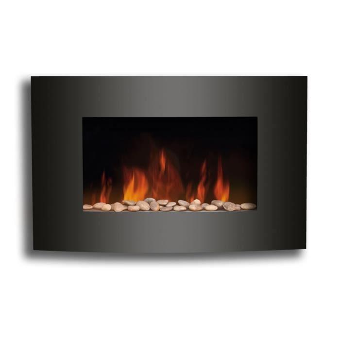 Foyer electrique design 2000w effet flammes achat vente po le insert - Cheminee electrique conforama ...