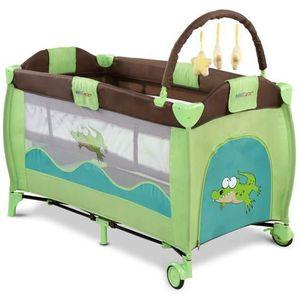lit b b de voyage pliant lit parapluie roulettes avec matelas et sac de transport vert vert. Black Bedroom Furniture Sets. Home Design Ideas