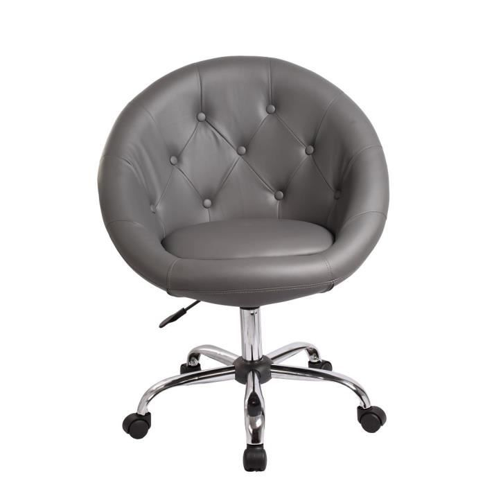 tabouret chaise fauteuil bureau roulette gris achat. Black Bedroom Furniture Sets. Home Design Ideas