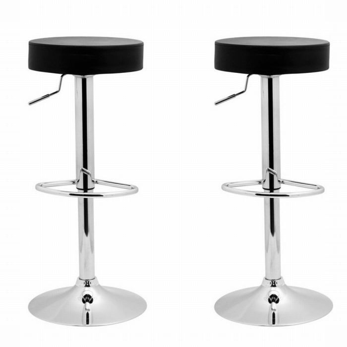 Lot de 2 tabourets de bar boule noir achat vente tabouret de bar cdiscount - C discount tabouret de bar ...