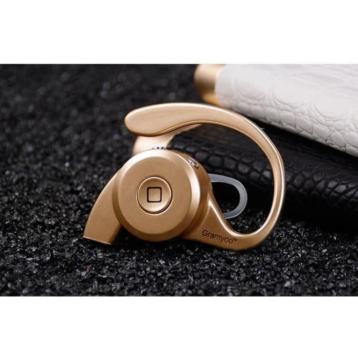 ecouteurs bluetooth 4 1 sans fil st r o pour iphone samsung htc or achat kit pi ton pas cher. Black Bedroom Furniture Sets. Home Design Ideas