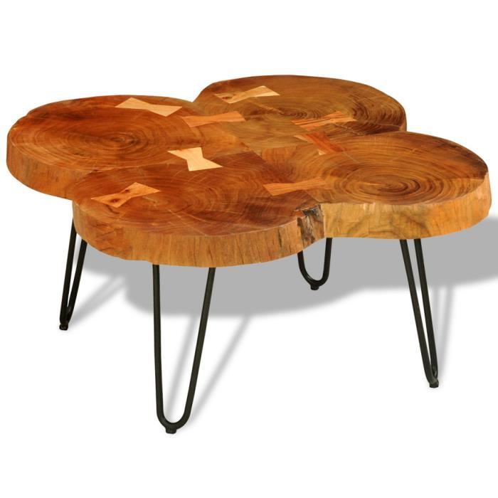 Table basse table d 39 appoint en bois massif sheesham 4 for Table basse d appoint