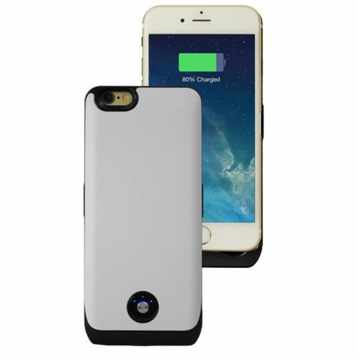 coque rechargeable blanc 3000 mah iphone 6 achat coque. Black Bedroom Furniture Sets. Home Design Ideas