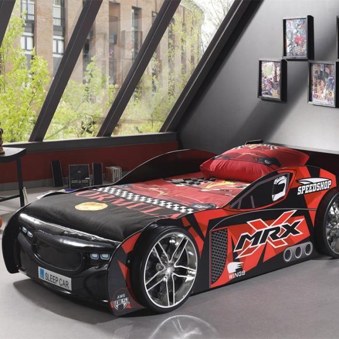 lit enfant voiture mrx noir paris prix achat vente lit complet lit enfant voiture mrx. Black Bedroom Furniture Sets. Home Design Ideas