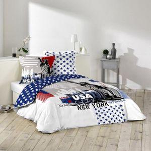 parure lit usa achat vente parure lit usa pas cher. Black Bedroom Furniture Sets. Home Design Ideas
