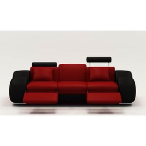 canape simili cuir noir 3 place achat vente canape simili cuir noir 3 place pas cher cdiscount. Black Bedroom Furniture Sets. Home Design Ideas