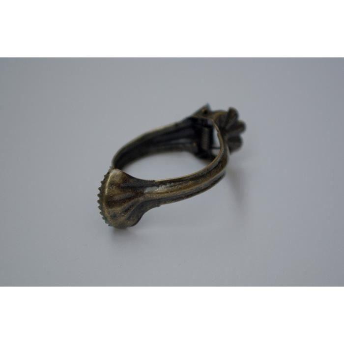 cafe clips anneaux pour rideaux 35 dor antique pack de 20 achat vente attache pour. Black Bedroom Furniture Sets. Home Design Ideas