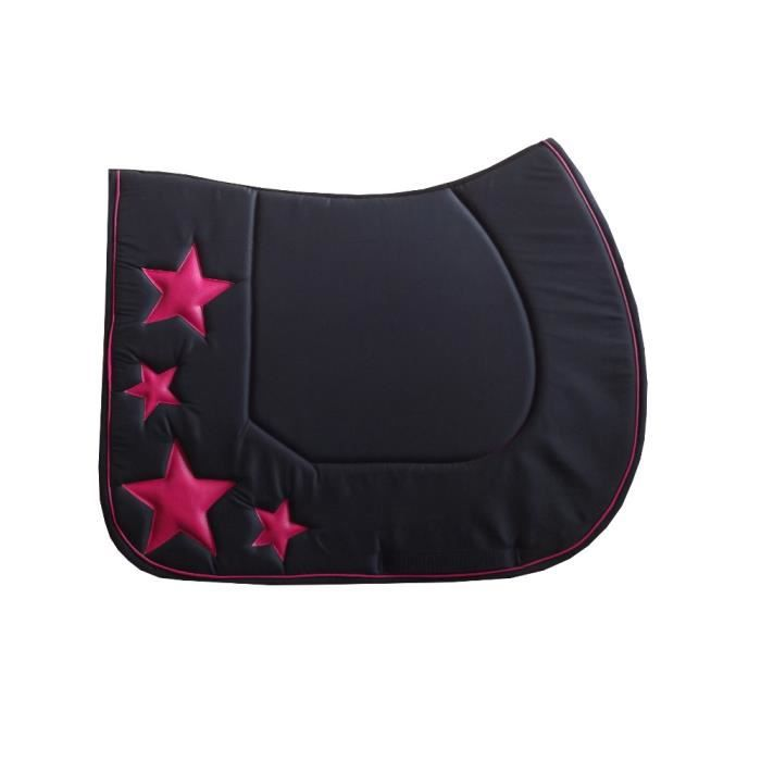 tapis de selle etoiles noir fuchsia poney prix pas cher cdiscount. Black Bedroom Furniture Sets. Home Design Ideas